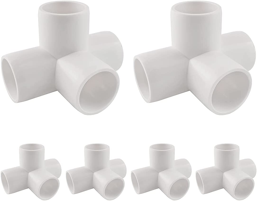 Inventory cleanup selling sale Ranking TOP16 MARRTEUM 1 2 Inch 4 Way PVC Fitting Elbow Corner Greenh Pipe for