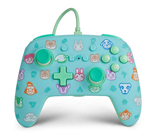 PowerA Enhanced Wired Controller for Nintendo Switch - Animal Crossing, Gamepad, Wired Video Game Controller, Gaming Controller - Nintendo Switch