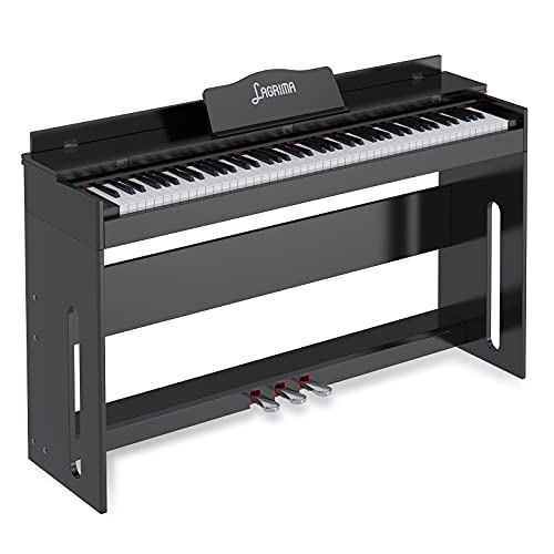 LAGRIMA LG-8813 88 Full Weighted Hammer Heavy Action Key Digital Piano, USB/Headphone/Mic/Audio Output Feature, Suit for Kids, Teen, Adult, Beginner or Training Institution