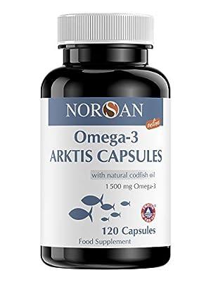 NORSAN Premium Omega 3 Dorschöl Kapseln hochdosiert - 1.500mg Omega 3 pro Portion - Über 4000 Ärzte empfehlen NORSAN Omega-3 - 100% natürlicher Wildfang, kein Aufstoßen