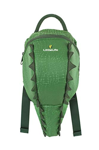 LittleLife Toddler Backpack-Crocodile, Mochila pequeños-Cocodrilo Unisex Niños, Blanco, Talla Única