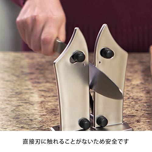 【日本正規品】バイエルンエッジbavarianedge日本語取扱説明書付き包丁研ぎ器卓上型シャープナー三徳包丁果物ナイフ刺身包丁