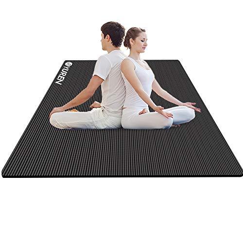 YUREN Gymnastikmatte Yogamatte Groß und Dicke 200 x 130 x 1,5cm aus öko Nitrilkautschuk Yoga Pilates Cardio Fitness Selbstübung zu Hause
