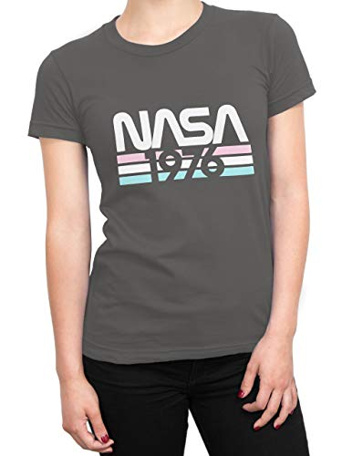 Nasa Camiseta para Mujer Gris Medium