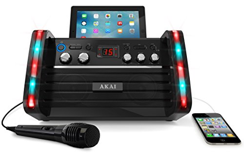 Akai KS213 Portable CD&G Karaoke System with Tablet Cradle