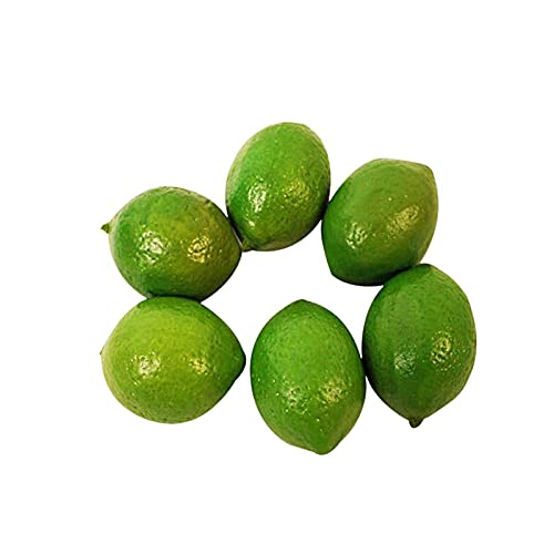 Zhi Jin Lot de 10 citrons artificiels en plastique pour décoration de table Vert