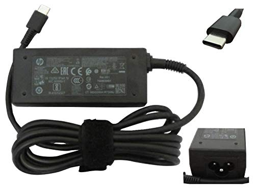 HP 814838-002 45W USB-C Replacement AC Adapter for HP Spectre X2 12-ab010nr, 13-v001dx,13-v010ca, 13-v011dx, 13-v018ca,13-v021nr, 13-v024tu, 13t-v000 CTO Detachable PC...