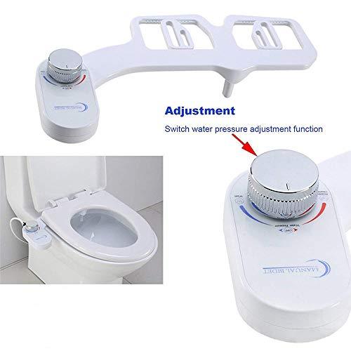 YUXINCAI toiletbril, waterspuitapparaat, toiletbril, niet elektrisch, toiletbril, bidet met twee sproeiers, reiniging van de sokkel, intelligent, persoonlijke hygiëne