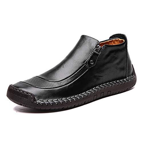 LIEBE721 Botas Retro para Hombres Zapatos de Hombre Antideslizantes Zapatos de Conducir