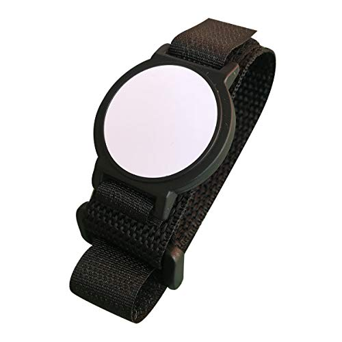 125KHz RFID Pulsera EM4100 ajustable nailon etiqueta, color negro (Pack de 5)