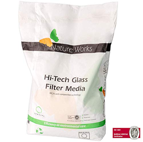 NATURE WORKS Glass Filter Media Vidrio filtrante para Piscinas Etapa 1 - Saco 10Kg