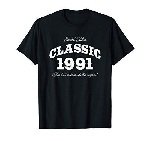 Gift for 30 Year Old: Vintage Classic Car 1991 30th Birthday T-Shirt