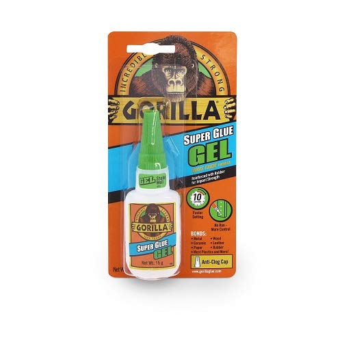 Gorilla Super Glue Gel, 15 Gram, Clear, (Pack of 1)