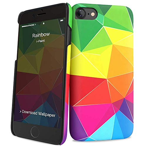 i-Paint Cover Hard Case per iPhone 8/7/SE 2020, Modello Rainbow