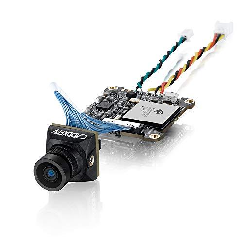 Caddx FPV Analog FPV Camera Baby Turtle Whoop Version 16:9/4:3 FOV 170 800TVL Super WDR FPV Camera HD DVR for RC FPV Racing Drone (Whoop Version Black)