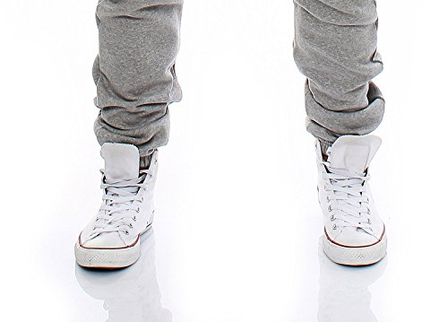 Gennadi Hoppe Herren Jumpsuit Onesie Jogger Einteiler Overall Jogging Anzug Trainingsanzug Slim Fit,hell grau - 6