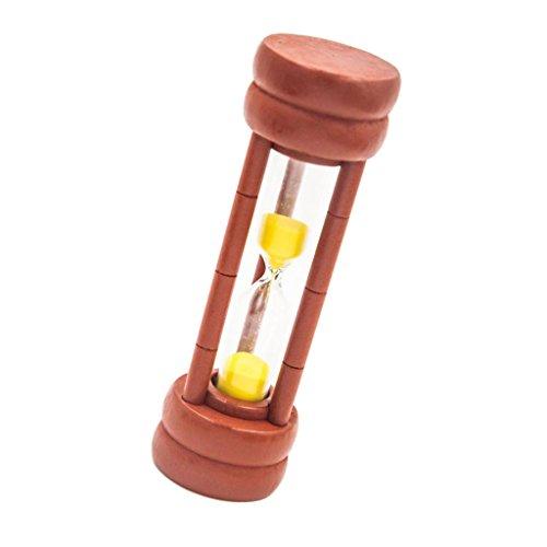 Sharplace 1x Horloge de Sable en Bois et Verre Jouet Sablier pour Enfant Minuterie de 1/2/3/5 Min Minuterie - 1 minute
