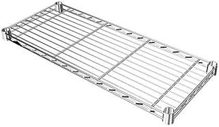 ルミナス ポール径19mm用パーツ 棚板 スチールシェルフ(耐荷重150kg)ワイヤー幅方向 1枚(スリーブ付き) 幅59.5×奥行24.5cm ST6025