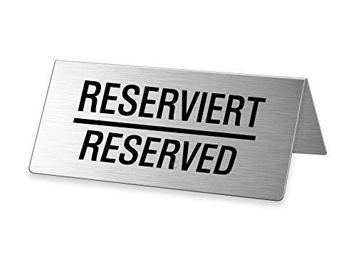 Ofform TableSign/Tischaufsteller aus Edelstahl