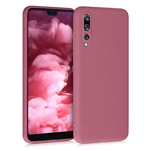 kwmobile Funda Compatible con Huawei P20 Pro - Carcasa de TPU Silicona - Protector Trasero en Rosa Palo