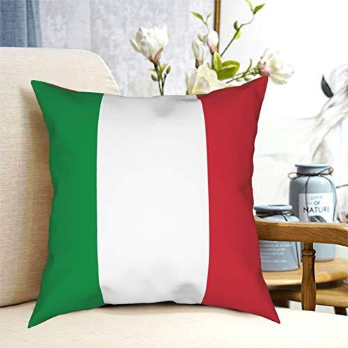 SUN DANCE Funda de cojín cuadrada con la bandera de Italia para sofá, dormitorio, coche, 50,8 x 50,8 cm