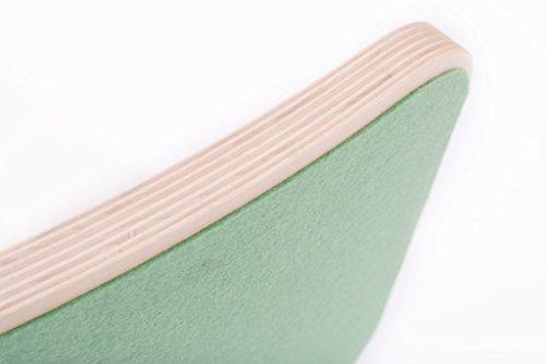 Wobbel Balanceboard, fördert Kreativität und Phantasie beim Spielen (weiß - waldgrün)