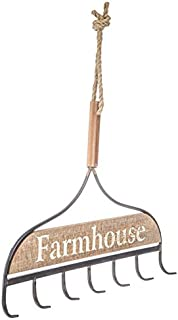 Rustic Rake Farmhouse Country Wood and Metal Wall Decor FARM GARDEN SIGN