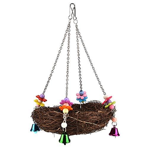 Semme Oiseau Jouets, Cage À Pendre Nid D'oiseau Cabane Tente Lit Oiseau Perroquet Jouet Oiseaux Nid Perroquet Cage Paille