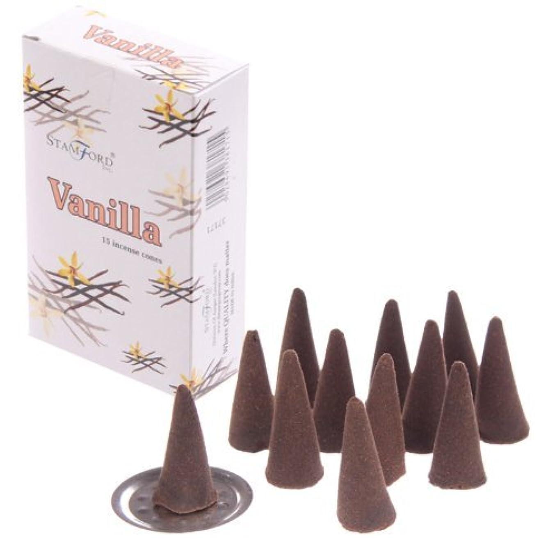革命的ヒューズ実験をするStamford Incense Cones - Vanilla 37171 by Puckator [並行輸入品]