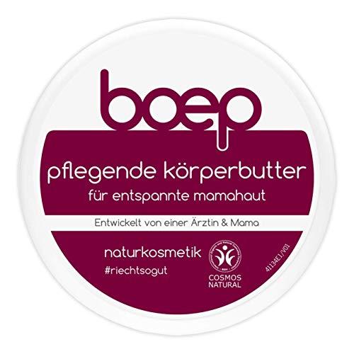 boep Pflegende Körperbutter für entspannte Mamahaut - Naturkosmetik Body Butter mit Sheabutter bei trockener Haut (125ml)