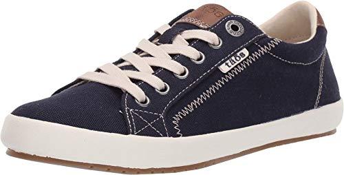 Taos Footwear Women's Star Burst Navy/Tan Sneaker 7 M US