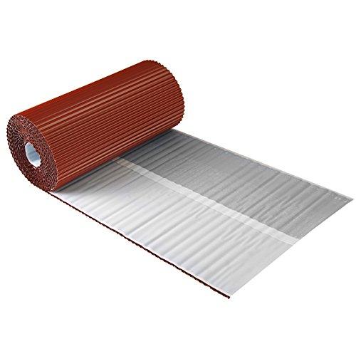 Wandanschlussband plissiertes Aluminium 30 cm x 5 m Dach Kamin Wand Schornstein 7 Farben (Ziegelrot)