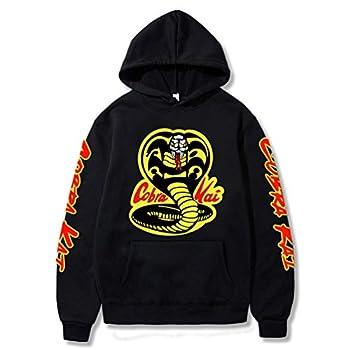 RongJun Karate Dojo Hoodie Cosplay Jacket No Mercy 3D Printed Pullover Sweatshirt  Large Style 1 Black