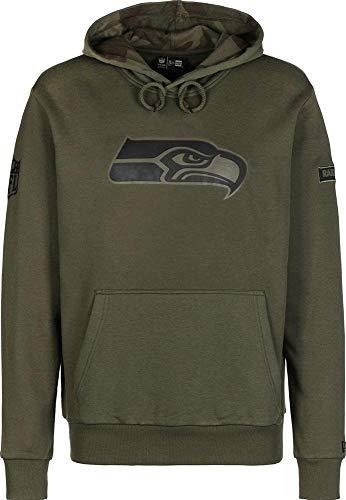 New Era NFL Camo Large Print Hoody Herren Seattle Seahawks Khaki, Größe:XXL