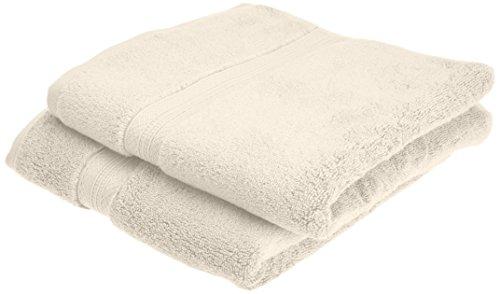 Pinzon - Juego de toallas de algodón Pima (2 toallas de mano), color marfil