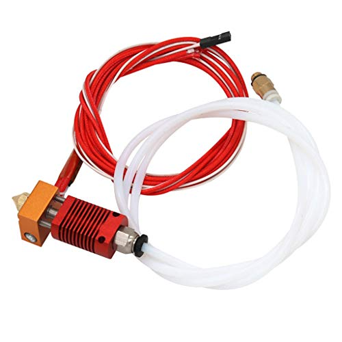 IPOTCH Extruder Hot end Kit with MK8 Copper Nozzle for Creality CR-10, CR-10S 3D Printers Printing Accessories - 12V 40W