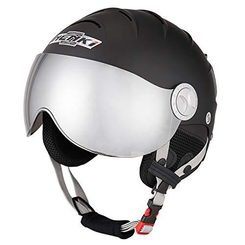 NENKI Casco de esquí con visera para deportes de nieve, esquí, snowboard,...