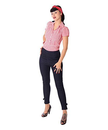SugarShock Alexia Jeans Zigarettenhose High Waist Skinny Hose, Größe:L, Farbe:dunkelblau