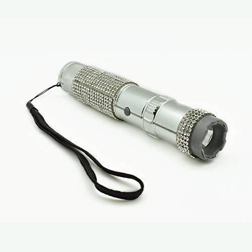 STREET WISE SECURITY PRODUCTS Jolt RhineStun Flashlight Stun Gun 75,000,000: Silver