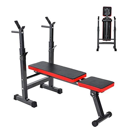 RYSB Weight Bench,Bankdrücken Langhantelbett Multifunktions-hantelbank,Sitzen-ups Faltbare Einstellbar Heimfitnessgeräte Hantelbank Fitnessstudio A 111x100x32cm(44x39x13inch)