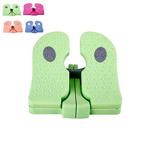 SJASD Plegable Mini Stepper Multifuncional Mute Arriba-Abajo Steppers Máquina Ejercitador Casa Portátil para Las Piernas De Los Hombres/Mujeres Brazo Entrenamiento,Verde