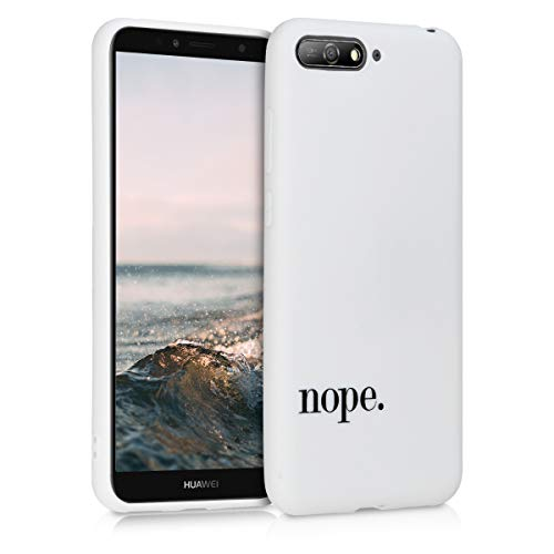 kwmobile Hülle kompatibel mit Huawei Y6 (2018) - Hülle Handy - Handyhülle - Nope Schwarz Weiß