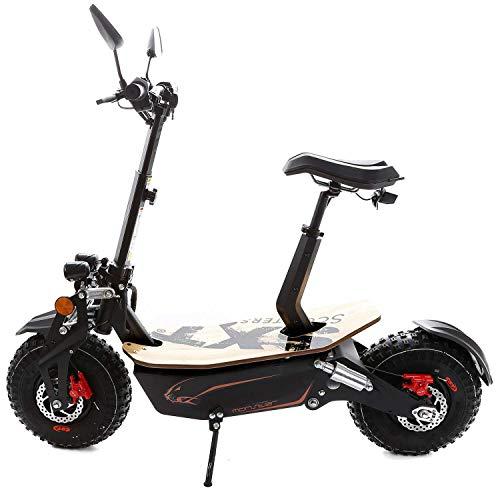 SXT Monster Elektroroller Offroadscooter Modell mit 3000 W bürstenlosem Motor - max. 60 km/h (48V 12Ah Bleiakku)