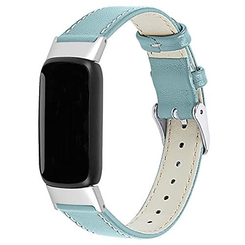 Compatible con Fitbit Luxe Bands, correa de piel, pulsera clásica para Fitbit Luxe Fitness y Wellness Tracker, Estrás,