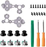 3D Analog Joystick Thumb Stick Sensor Gamepad Thumbstick Replacement Part for Xbox One Controller with Tools (4 Packs)