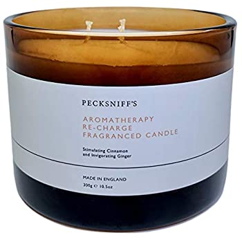 Pecksniffs England Aromatherapy Recharge Fragranced Candle with Three Wicks
