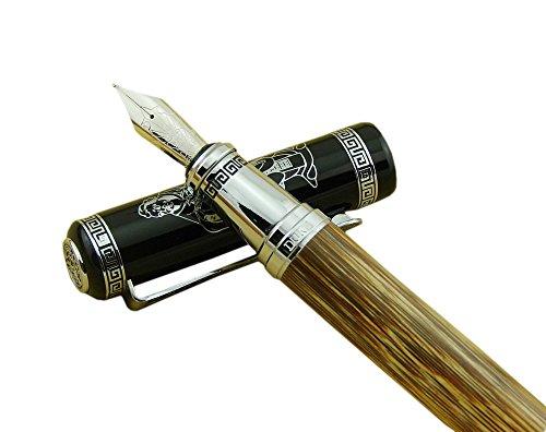 Confucio fue un profesor chino, editor, político y filósofo del período de primavera y otoño de la historia china. Todo el barril de este pluma estilográfica de bambú está hecho de un único bambú de seda dorada de alto grado. La construcción es muy s...