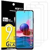 NEW'C 3 Stück, Panzerglas für Xiaomi Redmi Note 10, Note 10S, Note 10 5G Schutzfolie, Frei von Kratzern, 9H Festigkeit, HD Bildschirmschutzfolie, 0.33mm Ultra-klar, Ultrawiderstandsfähig