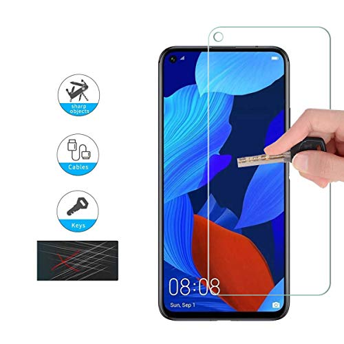 GEEMEE (2 Pack Schutzfolie für Huawei Honor 20 /Huawei Honor 20 Pro/Huawei Nova 5T, 9H Filmhärte Gehärtetem Schutzglas Hohe Empfindlichkeit Panzerglas Displayschutzfolie (Transparent) - 4