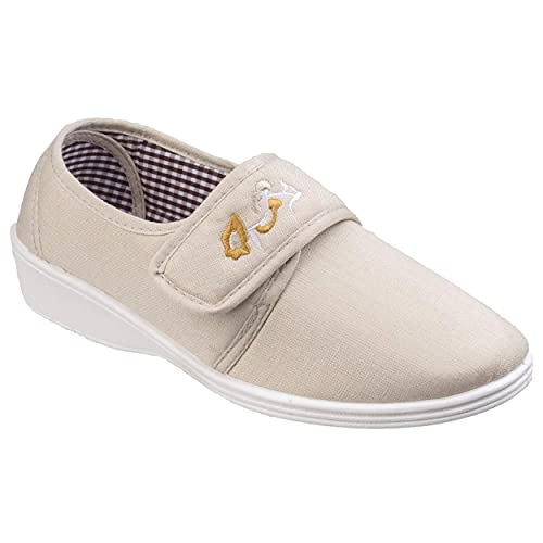 Mirak Boost Touch and Close Canvas Beige Size 38